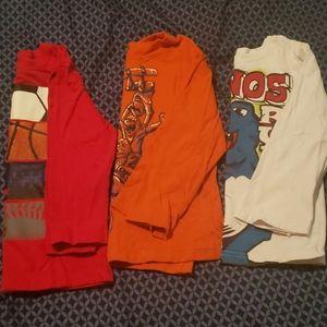 5T Boys Long Sleeve Tshirt Bundle